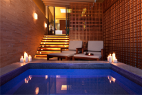 Sentosa hotels: the open-air section of an Onsen Suite at the Movenpick.