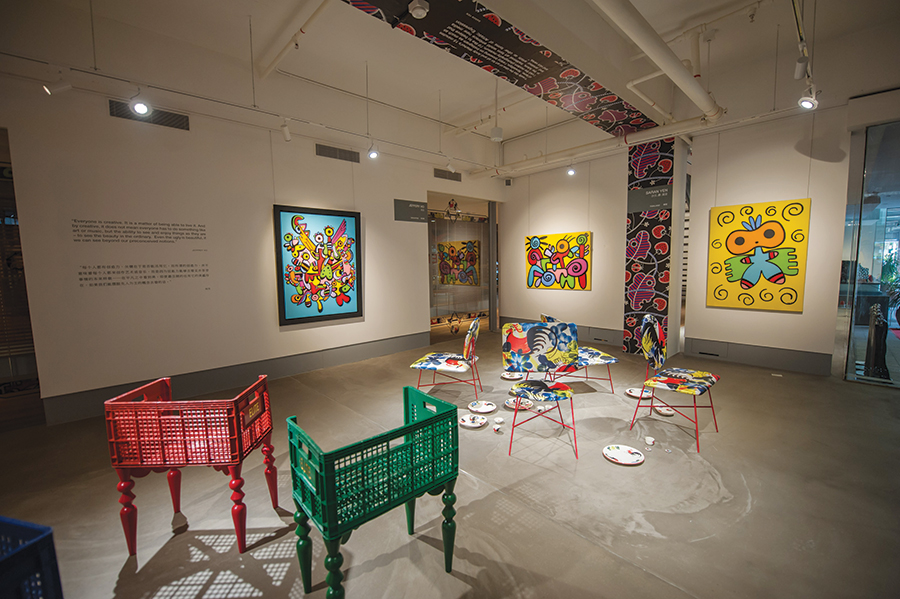 Works by 18 artists from 10 countries fill MAD's new 1,800-square-meter abode.