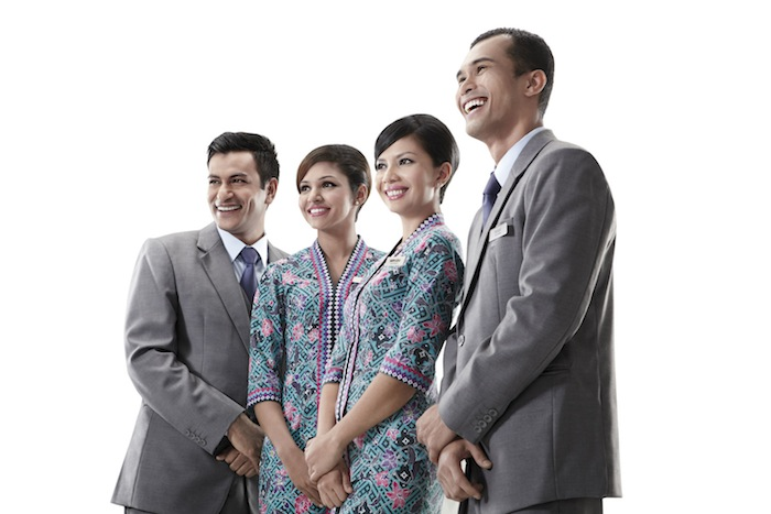Malaysia Airlines staff.