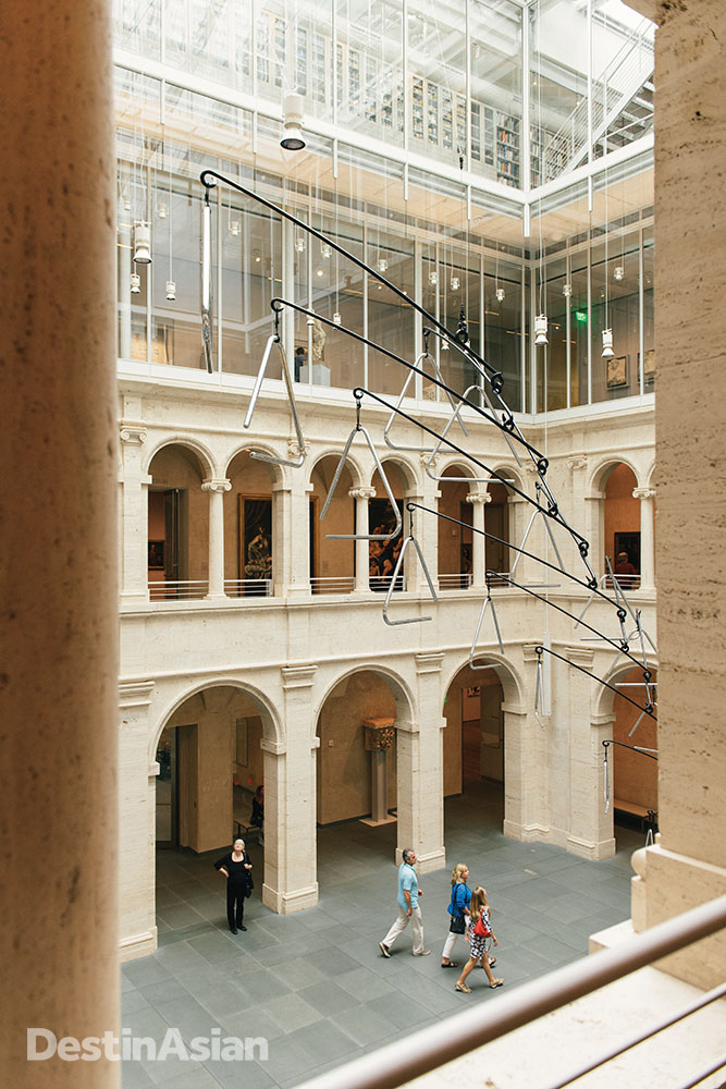 The Harvard Art Museum's Calderwood Courtyard.