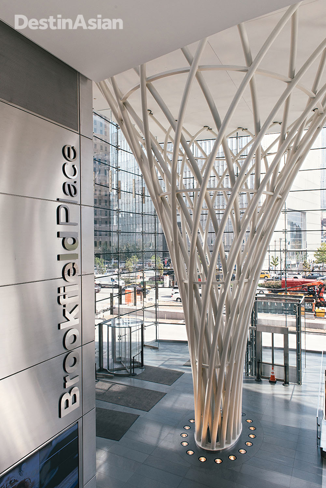 After a US$250 million makeover, the former Cesar Pelli-designed World Financial center reopened in 2014 as Brookfield Place with an upscale shopping mall and food court.