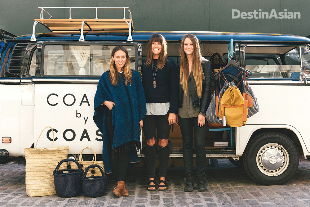 A mobile boutique at the Seaport.