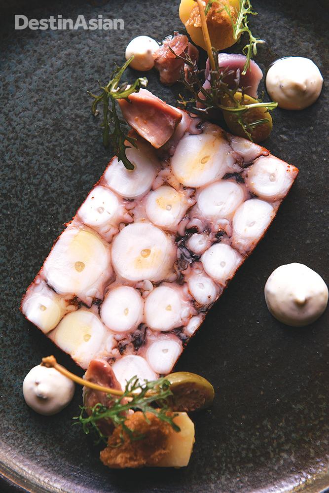Octopus pastrami at Batard.