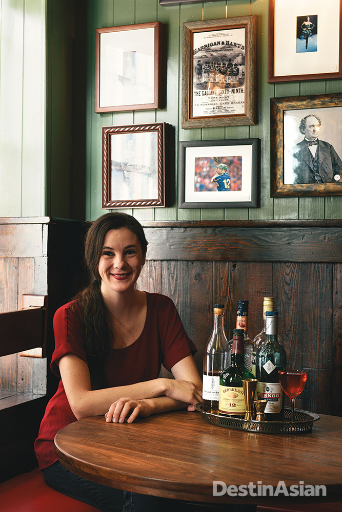 Bartender Jilian Vose at the Dead Rabbit Grocery and Grog.