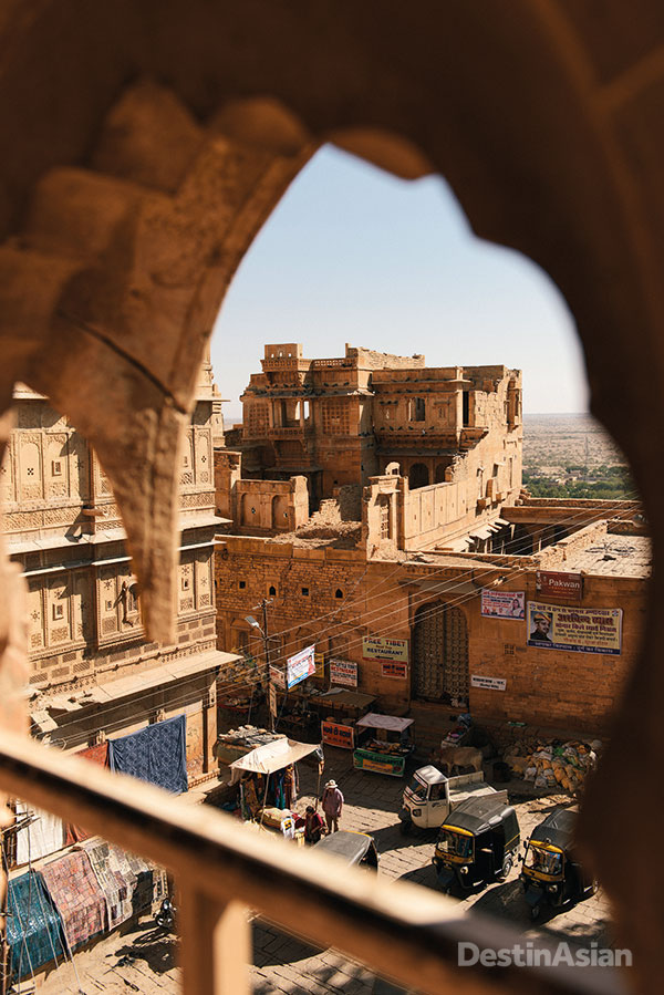 Looking down on Dussehra Chowk from the Forst Palace Museum and Heritage Centre, a onetime royal residence that now serves as a showcase for Jaisalmer's rich history.