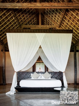 A bedroom at Nihiwatu's Villa Lantoro.
