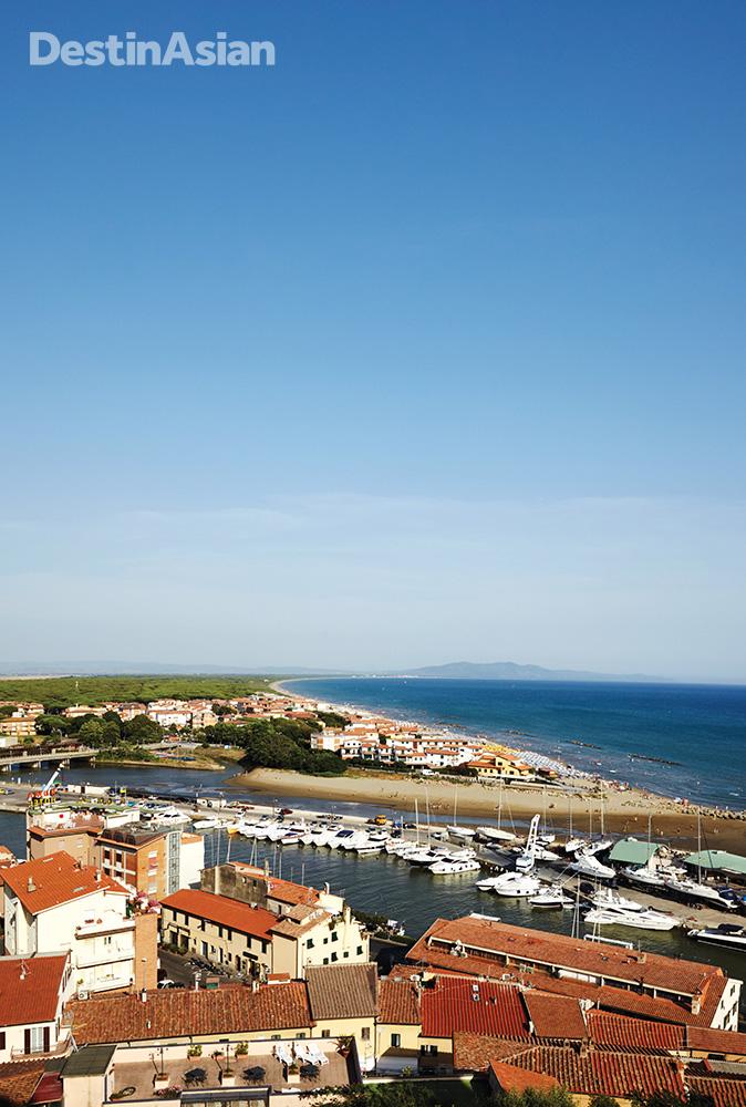 A view from the ramparts at Castiglione della Pescaia.