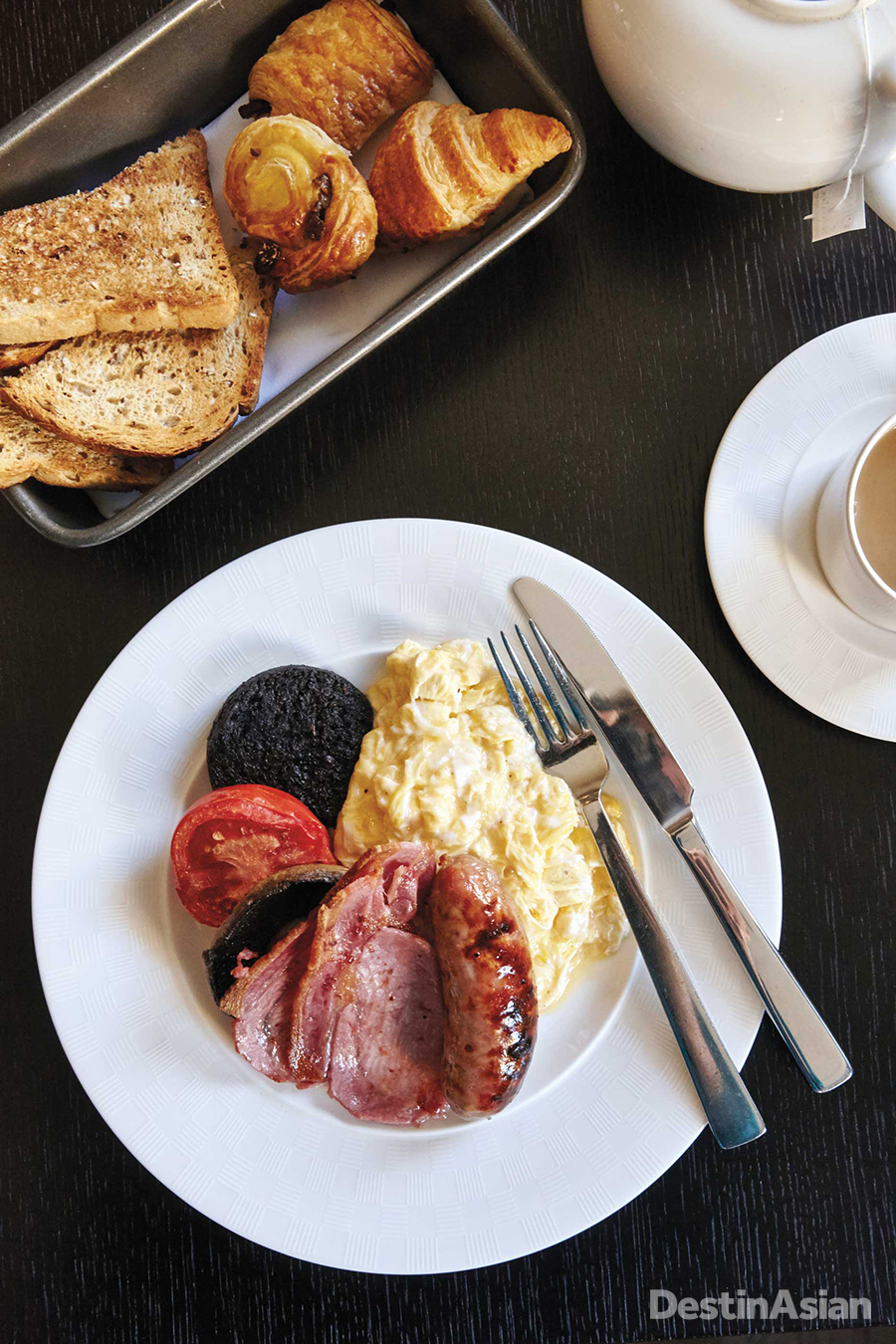 A full English breakfast at The Gainsborough Bath Spa.