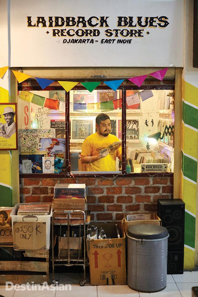 Samson Pho at his Pasar Santa record shop.