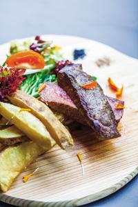 Duxton's signature Ozaki Wagyu steak.