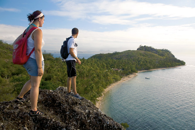 Overlooking the site of Tribewanted's village.