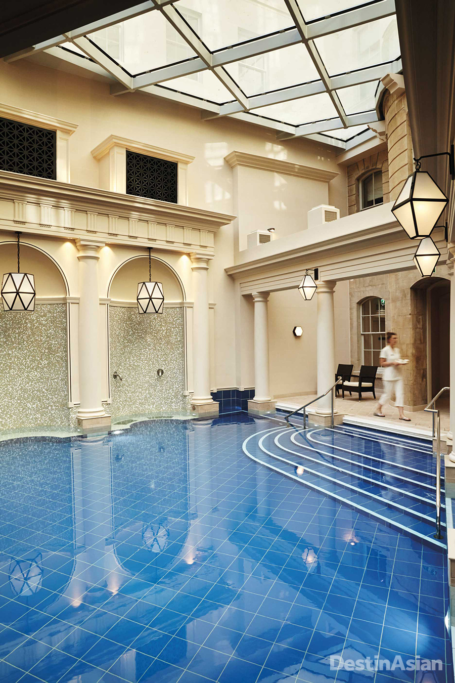 The Roman-style bathing atrium at The Gainsborough's Spa Village.