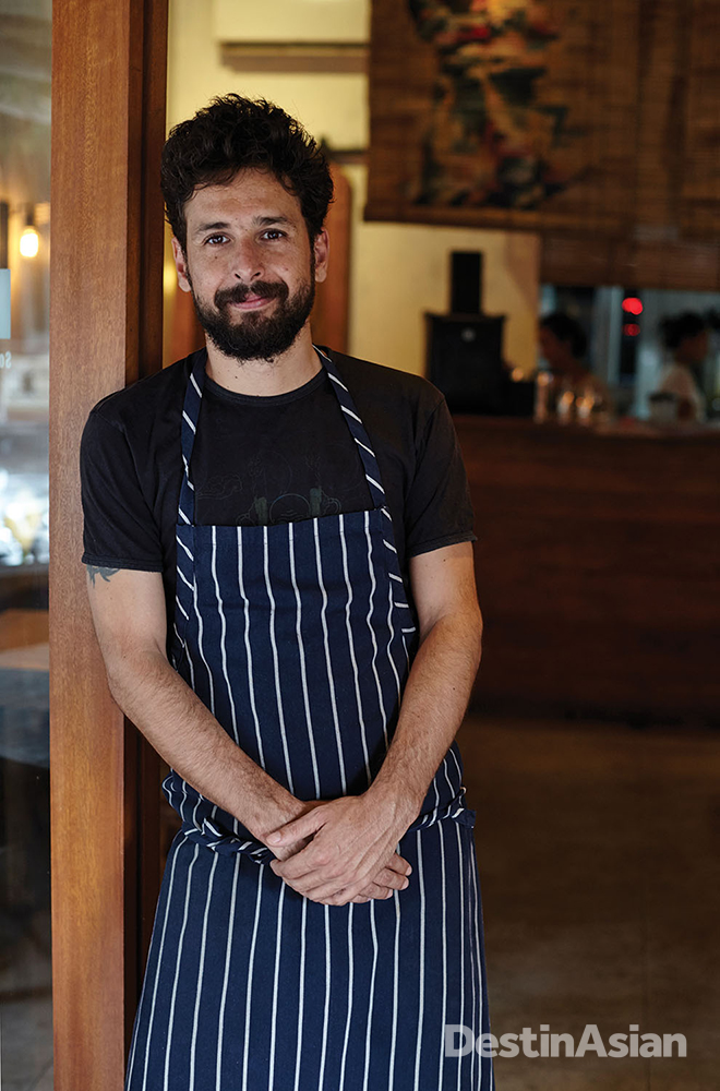 Chilean chef Cristian Encina at his Pica South American Kitchen.