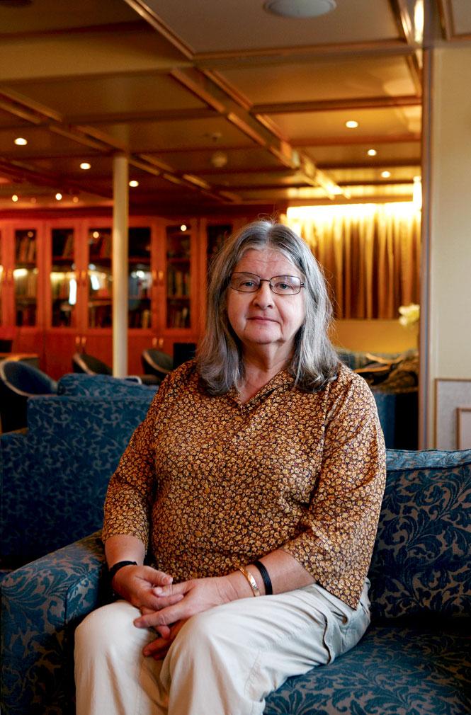 Biruté Galdikas, the cruise's guest lecturer.