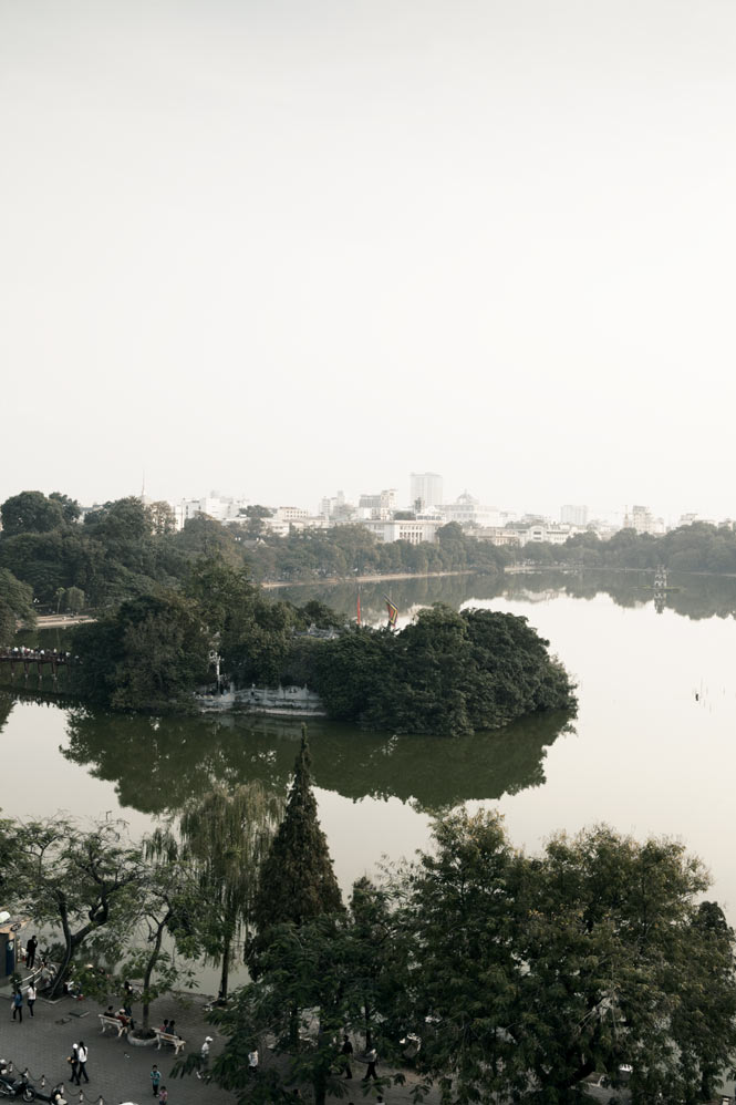 Scenic Hoan Kiem Lake is the focal point of city life.
