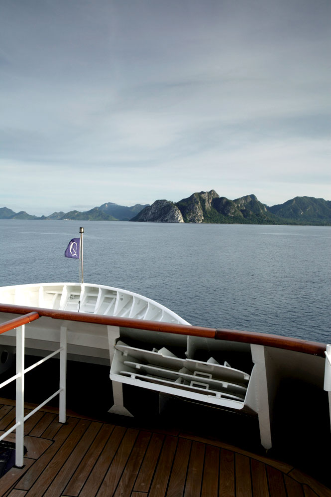 Arriving at Indonesia's Natuna Islands, in the South China Sea.