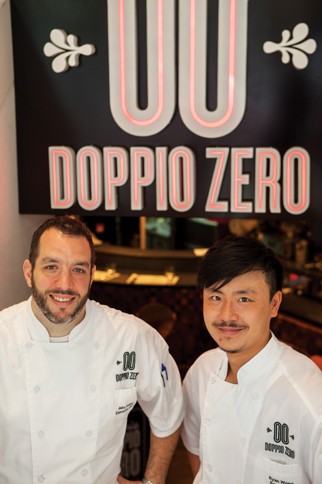 Doppio Zero's chef Jake Addeo with one of his kitchen crew.