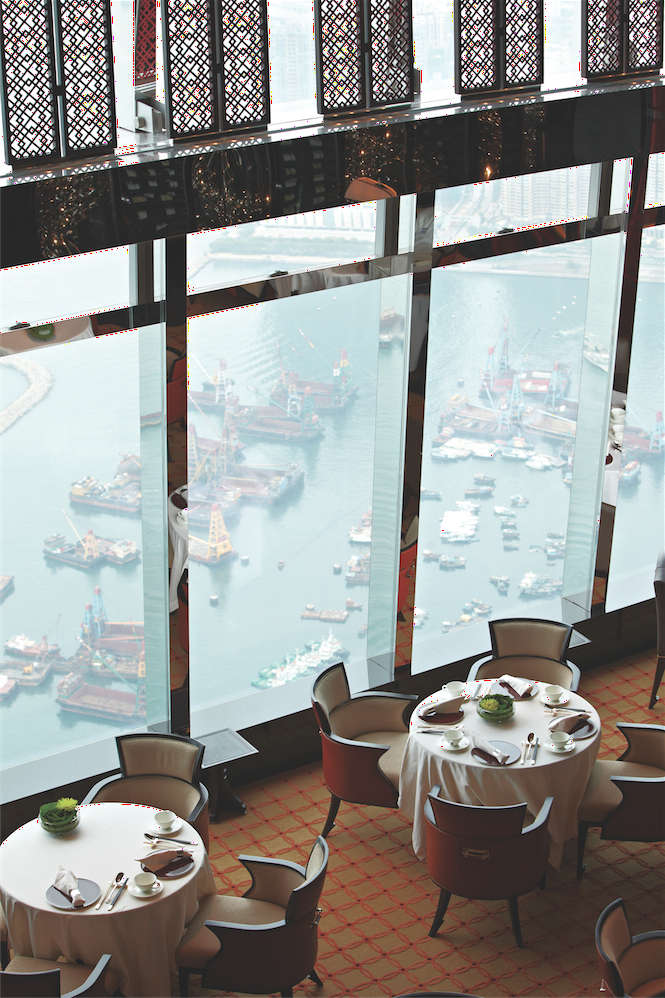 View from the Ritz's Tosca restaurant.