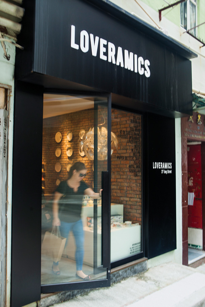 Tung Street in Sheung Wan is home to several chic boutiques, including ceramics shop Loveramics.