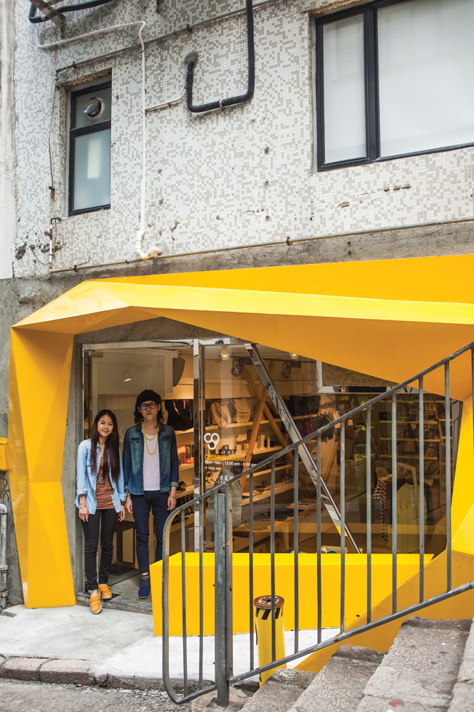 Konzepp Space's hard-to-miss storefront on Tung Street.