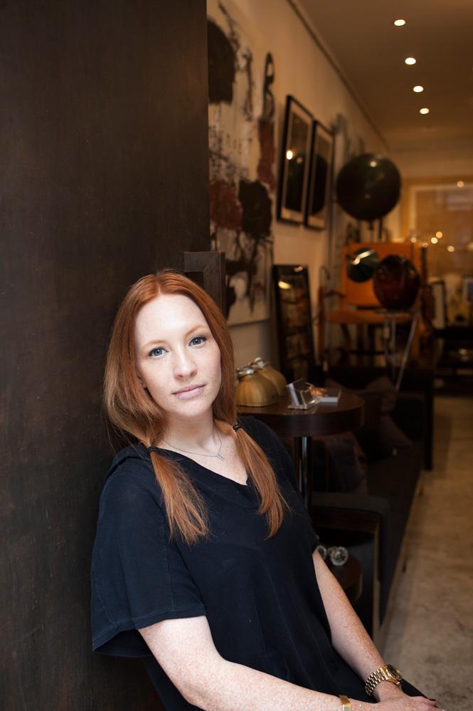Shelly Hayashi at her vintage shop General Store.