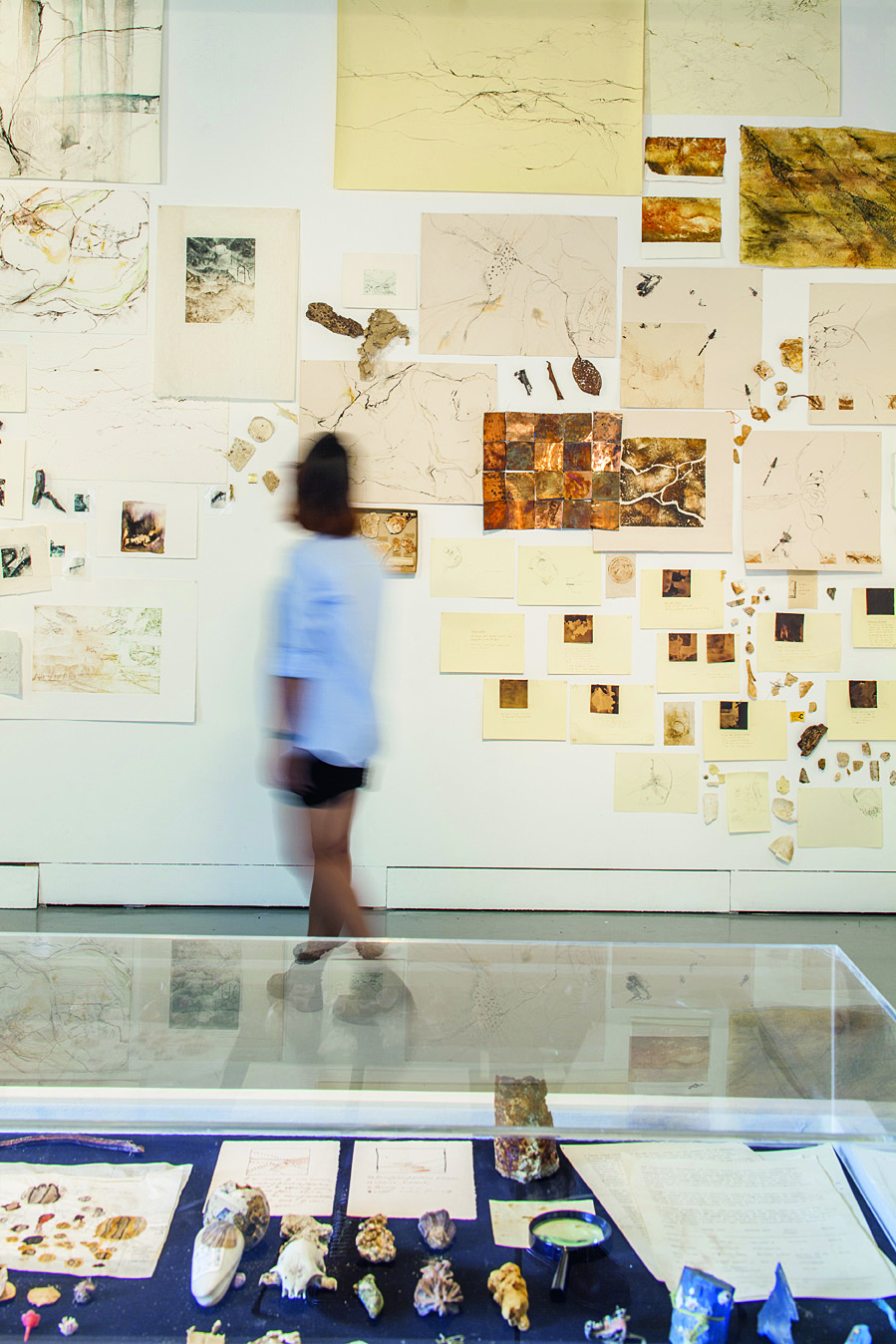 Inside an ICAS gallery.