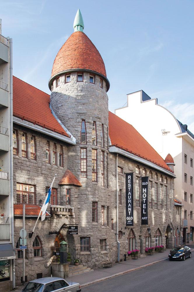 Glo Hotel Art inhabits a fairytale castle in the heart of Helsinki's Design District.