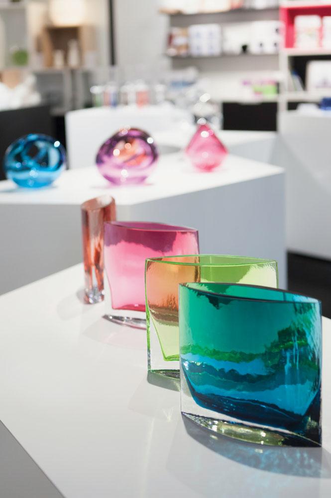 Glassware at the Design Forum.