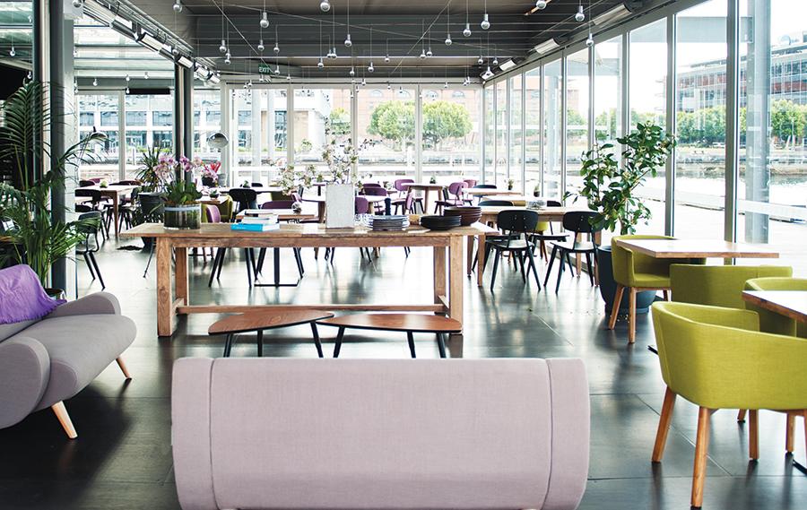The wharf-side LuMi Bar & Dining restaurant in Sydney's Pyrmont Bay area.