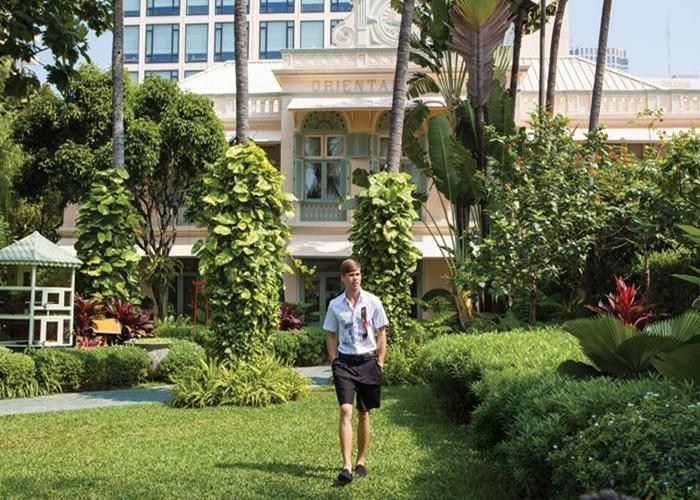The landmark Mandarin Oriental Bangkok Hotel is located on the banks of the Chao Phraya River, the city's largest.