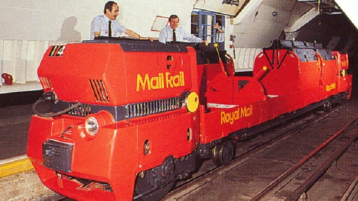 The Mail Rail, which opened in 1927 once transported four million parcels a day underneath the busy streets of London.