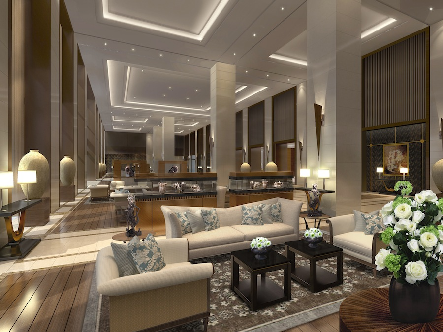 Fairmont Jakarta's main lobby.