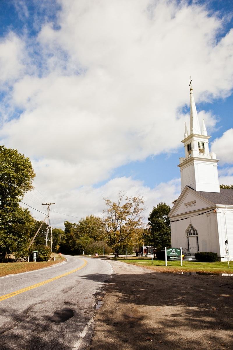 Congregationalist church, Harpswell peninsula.