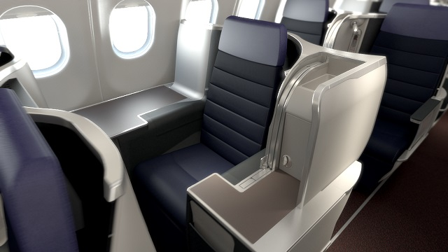 The new business cabin comes with a 43-inch seat pitch.