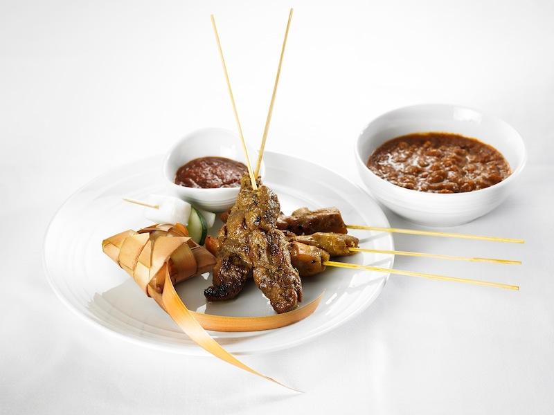 Malaysia Airlines' signature satay dish.
