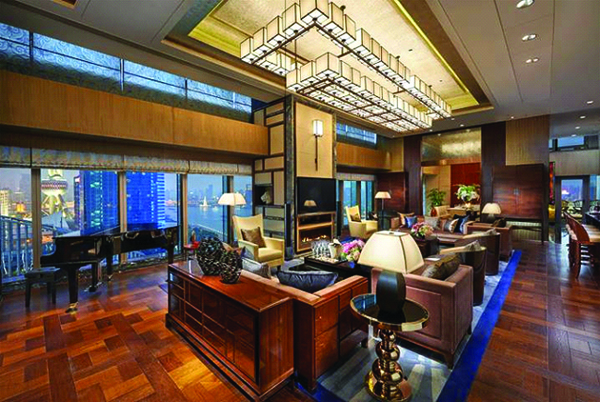 A sneak peek at Mandarin Oriental Pudong's Presidential Suite.