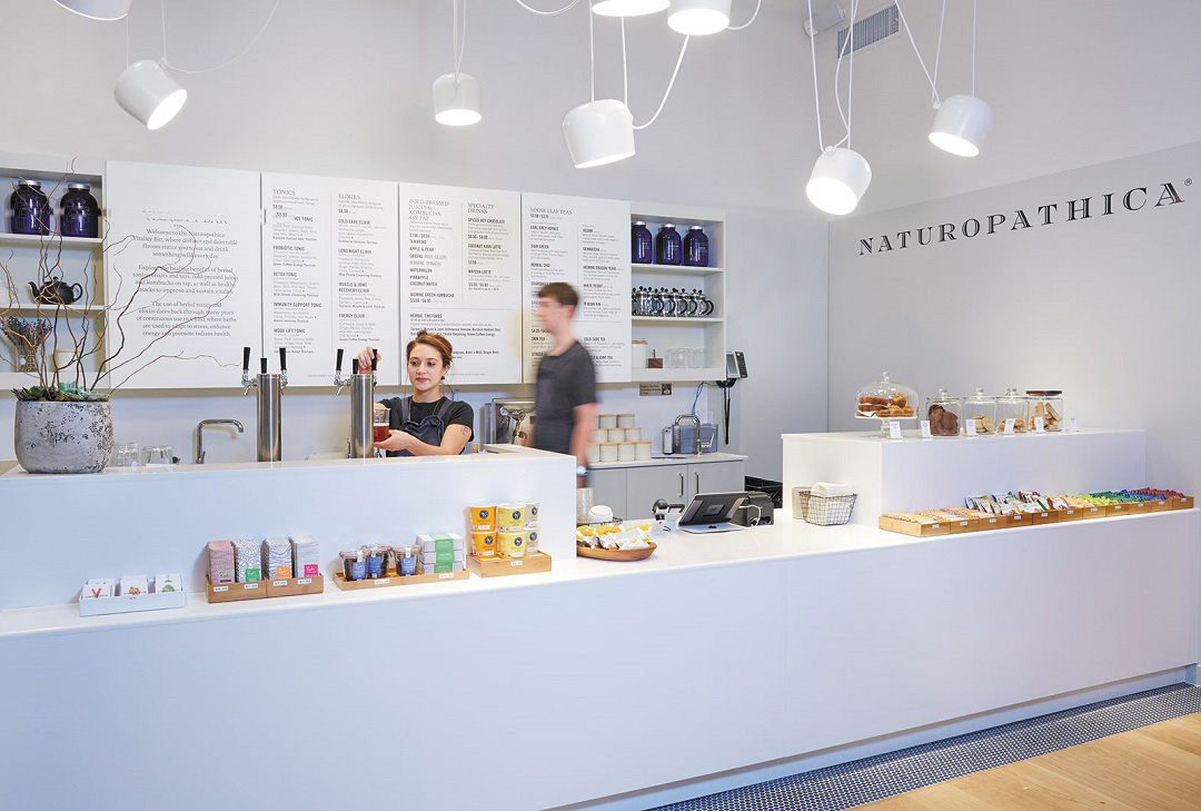 Naturopathica Chelsea offers juices and herbal tonics from its vitality bar.