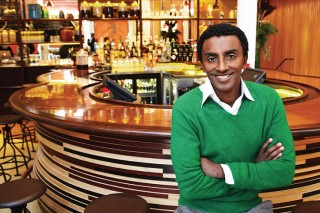 Marcus Samuelsson at his Red Rooster restaurant.