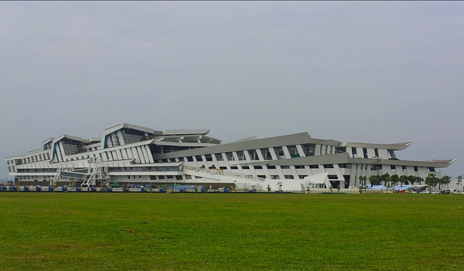 The Marina Bay Cruise Centre in Singapore.