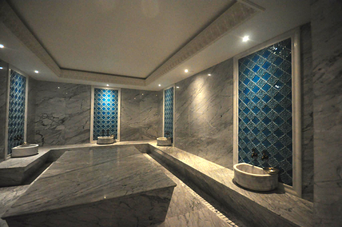 The hammam room at Marti Wellness by Spa Soul.