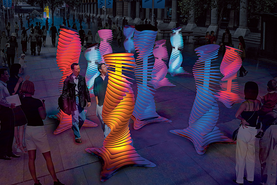 A render of 'Robotanic' by Ample Projects at this year's Vivid Sydney. (Photo: Destination NSW).