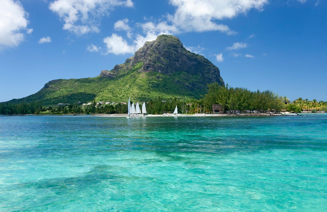 Lush island scenery and turquoise waters beckon in Mauritius.