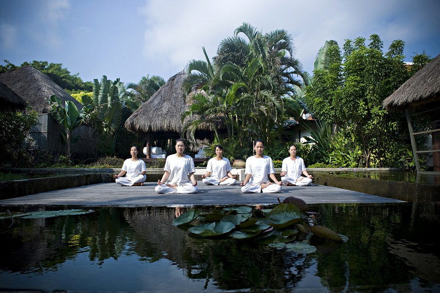 Meditation is a key component of the yoga programs.