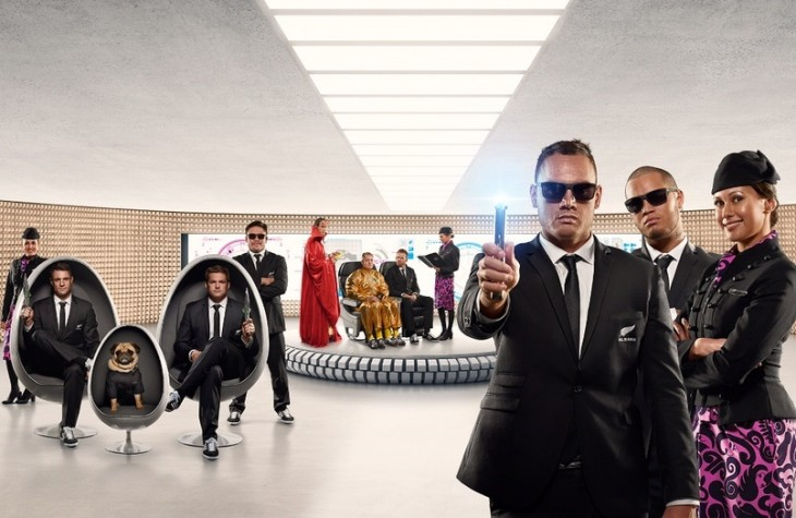 Air New Zealand's new safety video features All Blacks players as well as world rugby legends.