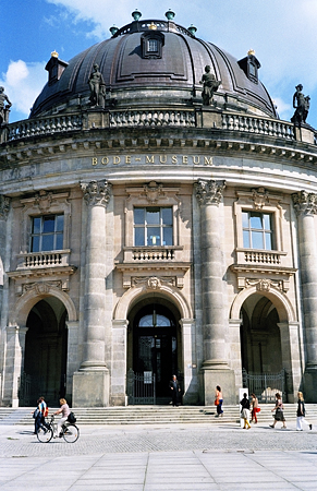 The Bode Museum overlooks the River Spree on Museum Island.