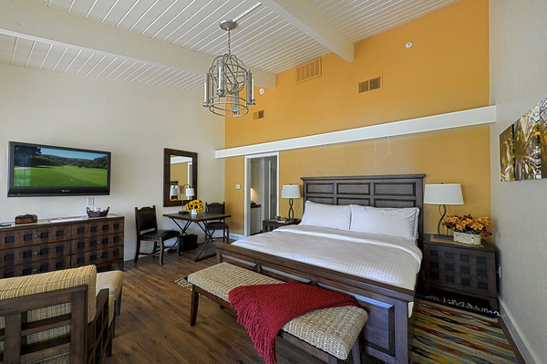 Updated guest quarters blend Californian and Spanish design touches.