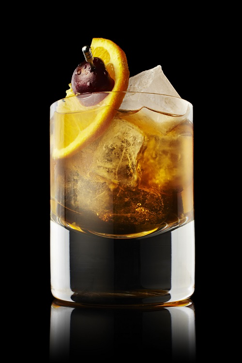 The classic Old Fashioned cocktail.