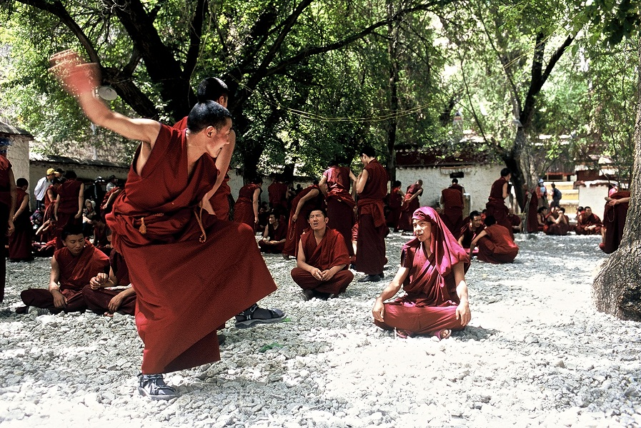In Lhasa, Buddhist monks share their lifestyle with visitors.