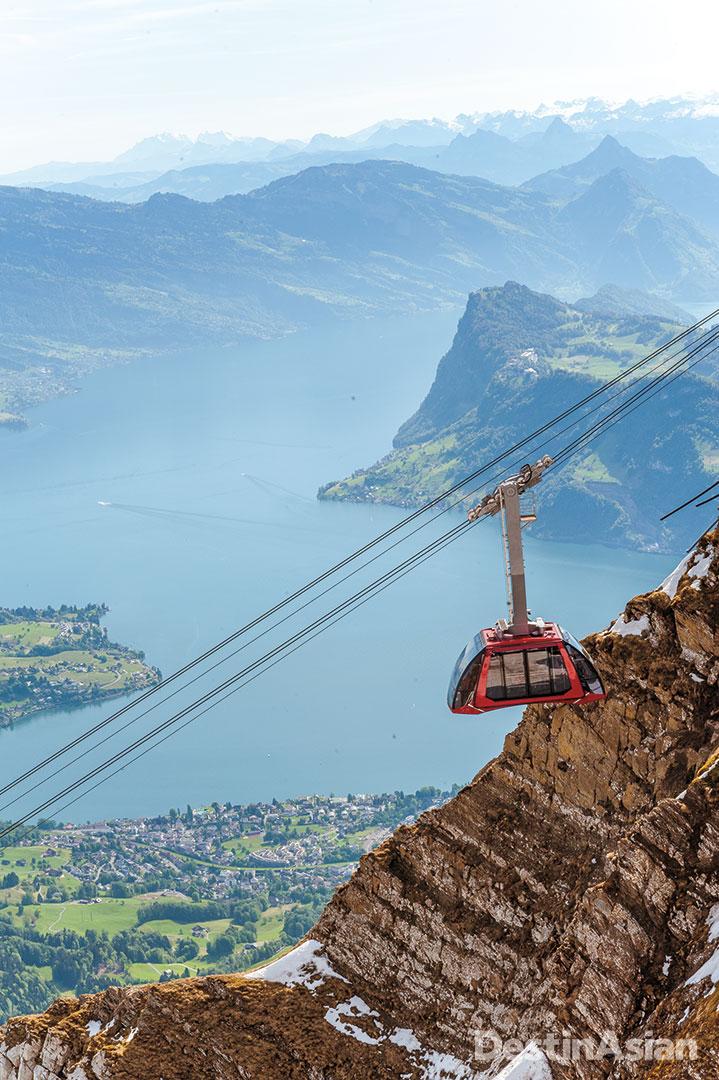 The Pilatus aerial cableway.