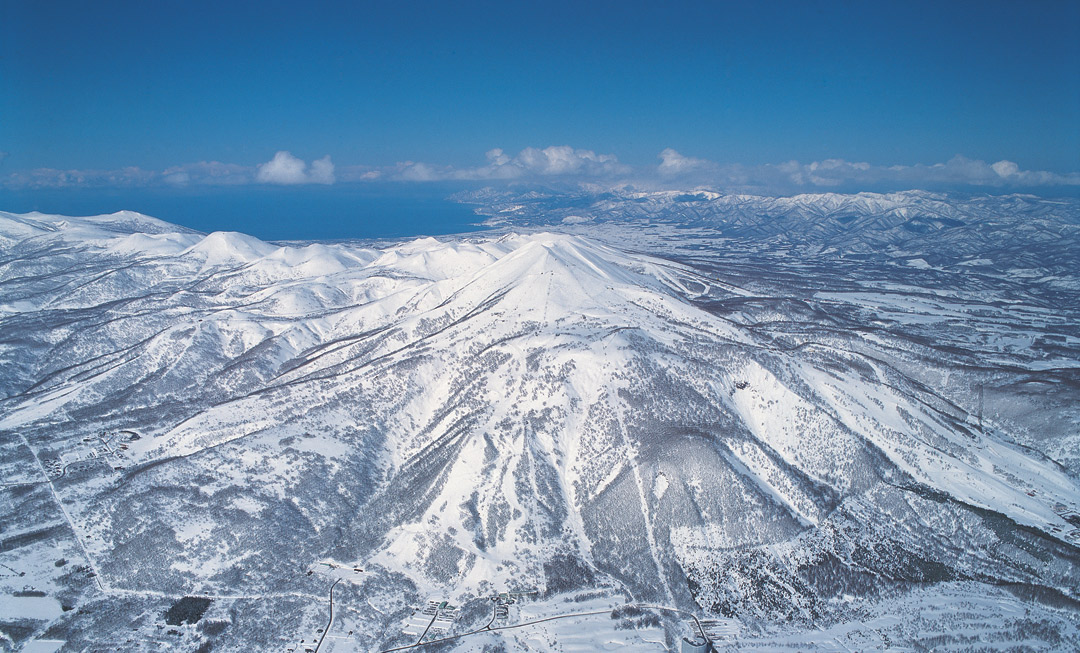 Soaring mountainscapes in Niseko, Japan.